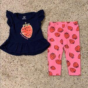 Carter's Baby Girl Strawberry Set